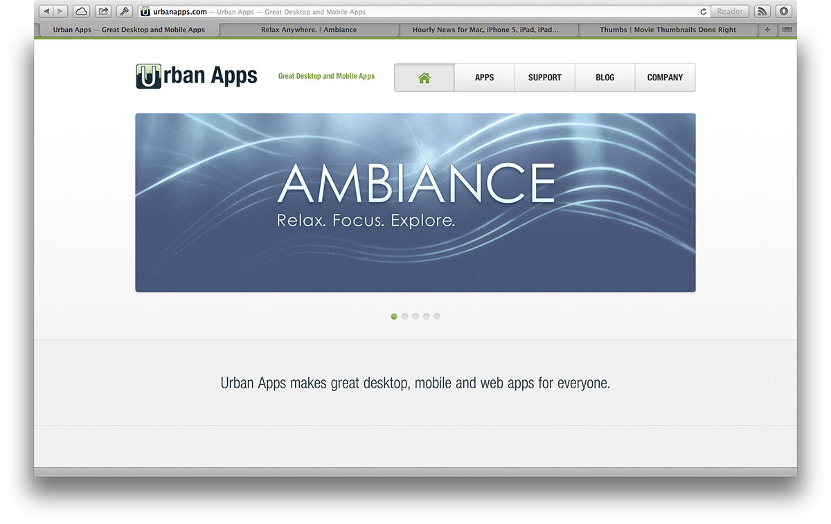 New Urban Apps Website